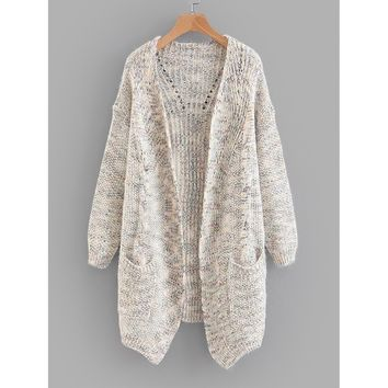 Space Dye Cable Knit Cardigan