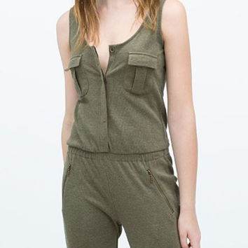 Sleeveless Jumpsuit - sporty = 4777456132