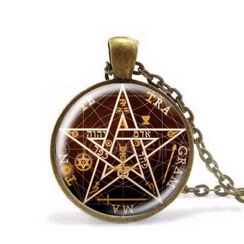 Steampunk 2017 Newest Personality pentagram Pendant Necklace charm Wiccan necklaces charms Occult pendants Jewelry 3 colors