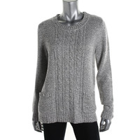 Karen Scott Womens Knit Marled Pullover Sweater