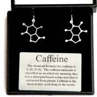 Anatomology Caffeine Molecular Structure Earrings