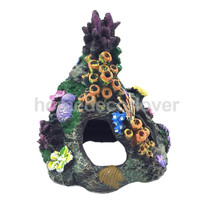 Vintage Resin Coral Mountain Fish Tank Aquarium Underwater Ornament Decor