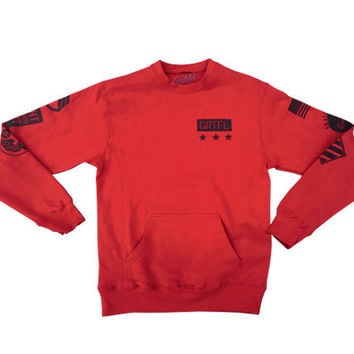 Fight The Good Fight Red Crew Neck