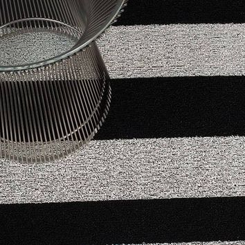 Bold Stripe Indoor/Outdoor Mat in Black/White