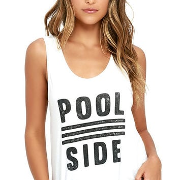 Amuse Society Poolside Ivory Tank Top