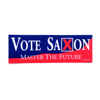 Doctor Who The Master: Vote Saxon Bumper Sticker