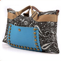 Women Hobo Satchel Fashion Tote Messenger Leather Canvas Purse Shoulder Handbag