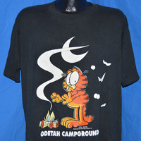80s Garfield Campfire Odetah Campground t-shirt XL
