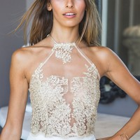 Adore Lace Crop Gold