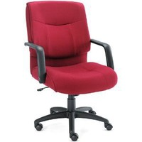 Alera ST42FA30B Stratus Series Mid-Back Swivel/Tilt Chair, Burgundy Fabric