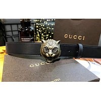 GUCCI new tide brand men and women retro tiger head belt