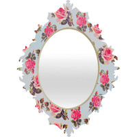 Allyson Johnson Pink Roses Baroque Mirror
