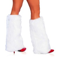 Fur Boot Covers - White