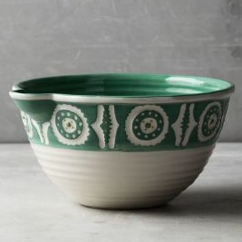 Brentanella Mixing Bowl by Anthropologie in Turquoise Size: Mixing Bowl Bowls