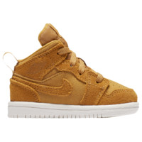Jordan AJ 1 Mid - Boys' Toddler - Casual Basketball Sneakers - Casual - Boys' Toddler - Jordan - Shoes - Basketball - Golden Harvest/Sail | Kids Foot Locker
