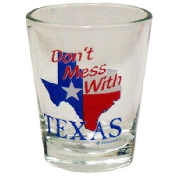 "texas shotglass "" don't mess with texas"" Case of 96"