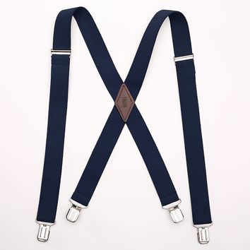 Levi's Adjustable Cotton Terry Suspenders - Big & Tall, Size: One