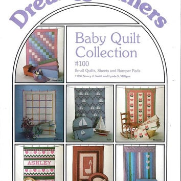 Dream Spinners Baby Quilt Collection Pattern 100, From 1989, FACTORY Folded, UNCUT, Sheets, Bumper Pads, Vintage Pattern, Home Baby Sewing