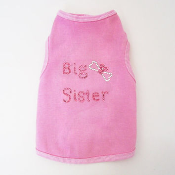 Big Sister Dog Shirt small dog clothes