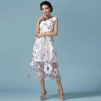 High-End Printed Party Dress