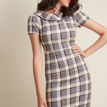 Round-Collared Sheath Dress