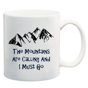The Mountains Are Calling & I Must Go Graduation Mug