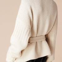 Knitted Cashmere Belted Cardigan