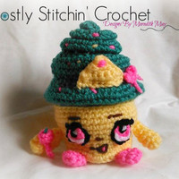 Shopkins Inspired Queen Cupcake; CROCHET PATTERN; PDF