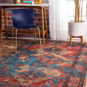 nuLOOM Distressed Tribal Lavonna Area Rug
