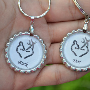 Doe & Buck Matching Key-chains