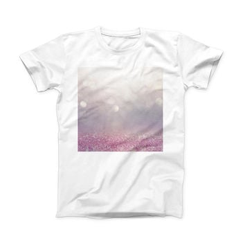 The Unfocused Light Pink Glowing Orbs of Light ink-Fuzed Front Spot Graphic Unisex Soft-Fitted Tee Shirt