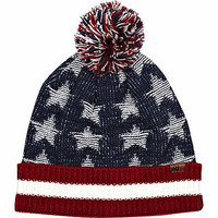 Navy American flag beanie hat - hats - accessories - men