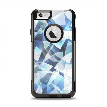 The Vector Abstract Shaped Blue Overlay V3 Apple iPhone 6 Otterbox Commuter Case Skin Set