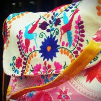 Maritza Cross Body Messenger Bag in Pink  –  Mexican hand bags by Erica Maree