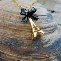 Gold Eiffel Tower Necklace