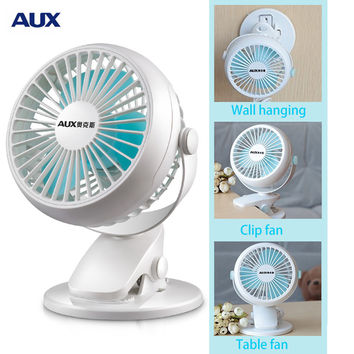 AUX Portable Clip/Wall Mount Office/Table USB Fan