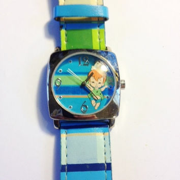 The Flintstones Pebbles Watch, Hard to Find, Blue and Green Dial and Band, RETRO