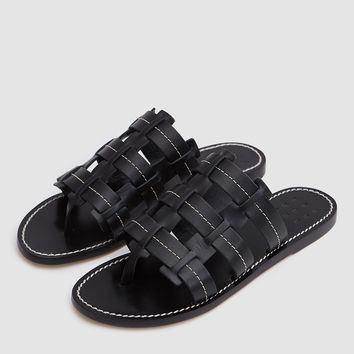 TRADEMARK / Cage Vachetta Sandal in Black