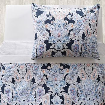 Luna Paisley Duvet Bedding Set with Duvet Cover, Duvet Insert, Sham, Sheet Set + Pillow Inserts