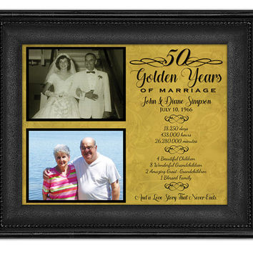 50th Anniversary Gifts - Golden Anniversary Gift - Wedding Anniversary Gift - Parents Anniversary Gift - & Shop Golden Anniversary Gifts on Wanelo