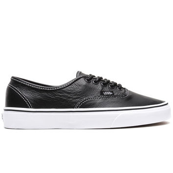 Vans - Leather Authentic (Black/Plaid)