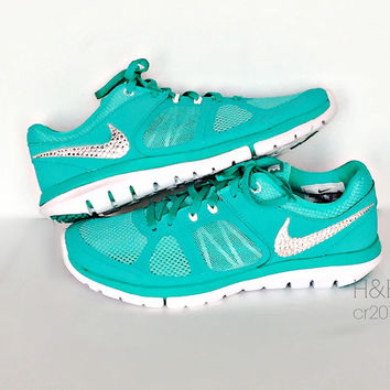 e8c27d3446fd Women s Nike Flex Run 2014 RN in Hyper Jade Metallic Platinum.