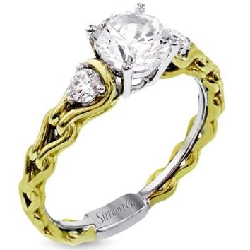"Simon G. Organic Style ""Love Links"" Diamond Engagement Ring"