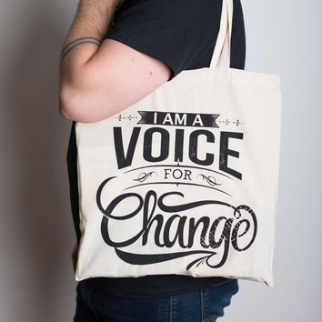 Voice for Change Tote Bag