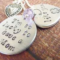 Mother's Day Necklace I'm so lucky to have a Mom Like You Mommy Necklace Grandma Jewelry