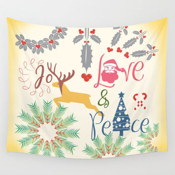 Tapestry, wall tapestry, Christmas decor, Cute tapestry, wall hanging, wall art