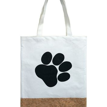 Two Material Paw Print Tote Bag Accessory 61