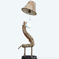 Giraffe Floor Bedroom Bedside Lamp Floor Lamp Children Cute Cartoon Living Room Lighting Fabric