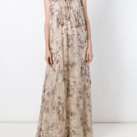 Chloé Floral Fil Coupé Maxi Dress - Stefania Mode - Farfetch.com
