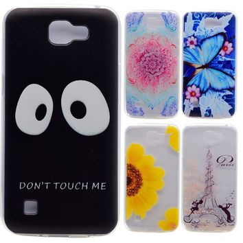 For LG K4 K120E K130E K121 Silicon Case Cover Soft Back Shell Cell Phone Accessory Rubber TPU Cases Coque Etui Capinha Cat